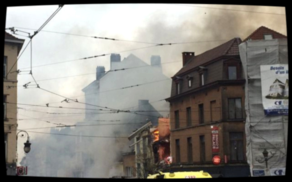 ВБрюсселе из-за взрыва разрушен четырехэтажный дом фото